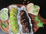 Фаршированные беконом цукини и баклажаны на гриле