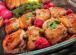 Куриные бедра-гриль в маринаде из аджики