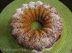 Яблочный кекс-пирог со сладкими творожными сырками (без масла)
