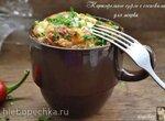 Картофельное суфле с сосисками для жарки