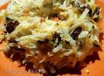 Картофельно-грибной венок с луком-резанцом