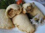 Песочные пирожки с начинкой из тушеной курицы