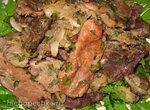 Жаркое из свинины и говядины в духовке