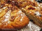 Пирог с карамельными грушами и шоколадом