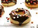 Пончики в духовке с глазурью из шоколадной пасты