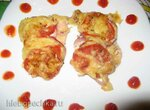 Куриное филе под овощами и сыром а-ля мясо по-французски