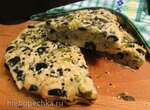 Пирог с зеленью и маслинами Изумительный(без яиц и сливочного масла)