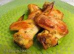 Запечённые куриные крылышки в укропно-пивном маринаде