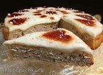Пряный пирог со сметанно-лимонным кремом