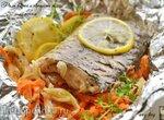 Филе карпа с овощами и лимоном