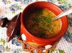 Молочно-грибной суп с кабачком и картофелем в горшочках