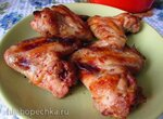 Куриные крылышки, запечённые в маринаде с хреном
