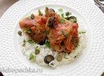 Курица, томленая с маслинами и каперсами