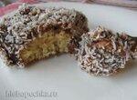 Пирожные шоколадно-кокосовые с вареной сгущенкой