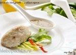 Рыбные кнели в духовке с грибным соусом