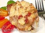 Куриные бедра, запеченные в  сырном креме