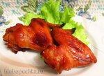 Запечённые куриные  крылышки в чесночно-медовом маринаде