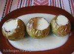 Простые печеные яблоки и ванильный соус  (Helpot uuniomenat ja vaniljakastike)