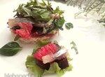 Пикантный салат из сельди с запеченной свеклой
