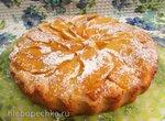 Пирог из творожного теста с айвой