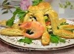 Салат с креветками «Осьминожки»