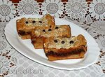 Творожно-шоколадные пирожные с печеньем