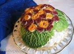 Блинный торт закусочный Букет