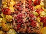 Форель с овощами по-итальянски