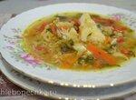 Суп рисово-чечевичный рыбный с треской