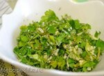 Пряная посыпка из свежей зелени к столу