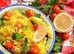 Рис с куркумой и черри по рецепту Йотама Оттоленге