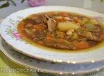 Суп из сушеных белых грибов с белой фасолью