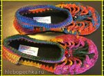 Женские ажурные туфельки крючком