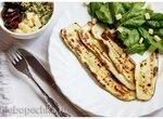 Кабачок с сыром и шпинатом