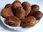 Цельнозерновые творожные кексы с ягодами в Мадлен от Принцесс
