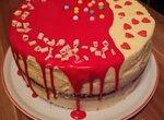 Торт Красный бархат с клюквенным конфи