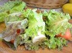 Обезьяний бутерброд из фруктов с салатными листьями