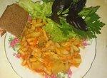 Рагу овощное со стручковой фасолью, без воды и масла