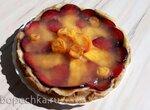 Диетический заливной пирог (тесто из  бескрахмальной муки - обезжиренной миндальной и белольняной)