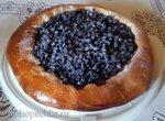 Пирог-ватрушка с черникой