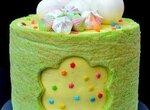 Бисквитный торт Карамельная груша с орехами