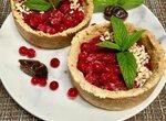 Тарталетки с ягодным суфле без пшеничной муки и сахара
