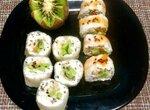 Творожные роллы из рисовой бумаги с фруктами