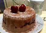 Шоколадно-вишневый пирог без вреда для фигуры