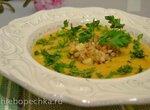 Суп-пюре картофельно-кабачковый с минестроне из круп с пастой (для вегетарианцев и веганов)
