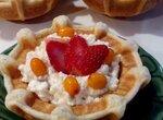 Тарталетка вафельная с творожно-ягодной начинкой из тарталетницы Steba