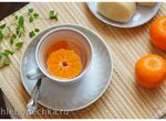Горячий напиток с мандаринами, мёдом и имбирём