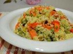Рис с овощами и зеленым горошком (для вегетарианцев)