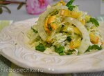 Салат с пекинской капустой, фенхелем и вяжущей хурмой (для вегетарианцев)