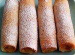 Хлебные трубочки с яблоками